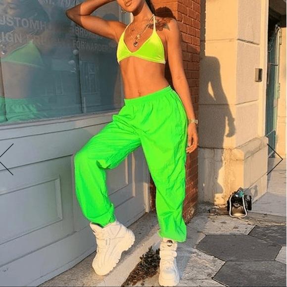 a5a0e9262d66d Neon Green windbreaker joggers